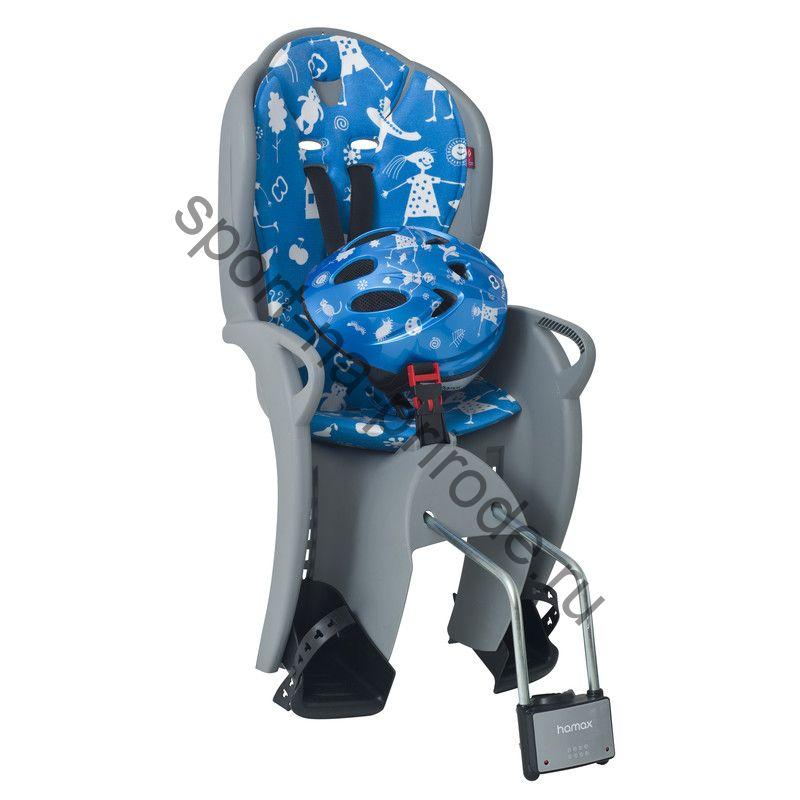 Комплект Kiss Safety Package HAMAX, заднее велокресло среднего размера и шлем (выбранный ЦВЕТ: Красный)
