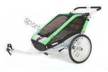 Коляска Thule Chariot Cheetah2/Чита2, в комплекте с велосцепкой, зеленый, 14-