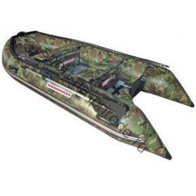 Лодка NISSAMARAN надувная, модель TORNADO 380, цвет зеленый-камуфляж (аллюм.пол) A/L