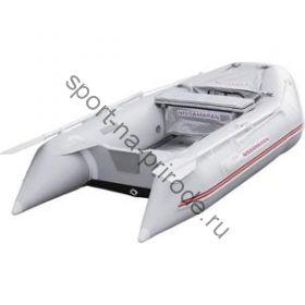 Лодка NISSAMARAN надувная, модель MUSSON 270, цвет серый  (дерев. пол) P/L