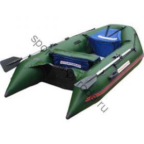 Лодка NISSAMARAN надувная, модель MUSSON 270, цвет зелёный  (дерев. пол) P/L