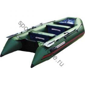 Лодка NISSAMARAN надувная, модель MUSSON 320, цвет зелёный (дерев. пол) P/L