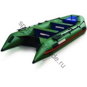 Лодка NISSAMARAN надувная, модель TORNADO 380, цвет зеленый  (аллюм. пол) A/L