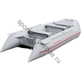 Лодка NISSAMARAN надувная, модель MUSSON 320, цвет серый  (дерев. пол) P/L