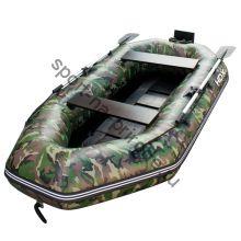 Лодка HDX надувная, модель SIRENA 285 , цвет зелёный-камуфляж, (дерев. пол) S/L