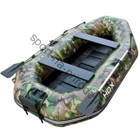 Лодка HDX надувная, модель SIRENA 235 , цвет зелёный-камуфляж, (дерев. пол) S/L