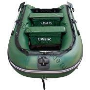 Лодка HDX надувная, модель CARBON 370 , цвет зелёный-камуфляж, (дерев. пол) P/L
