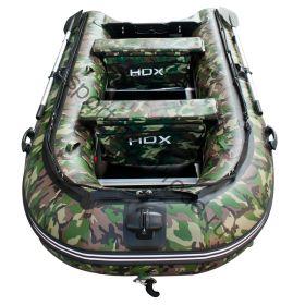 Лодка HDX надувная, модель CARBON 330 , цвет зелёный-камуфляж, (дерев. пол) P/L