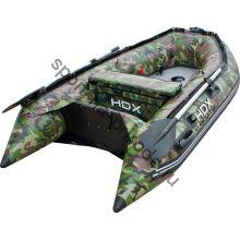 Лодка HDX надувная, модель OXYGEN 240 AL, цвет камуфляж зеленый