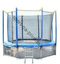 Батут OPTIFIT 10FT Like Blue с сеткой и лестницей