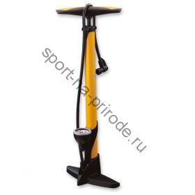 """Насос Giyo 26"""", floor pump, авто/вело нипель, датчик давления."""