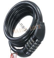 Спиральный кабельный замок, арт. HD721, 10*1000, на коде