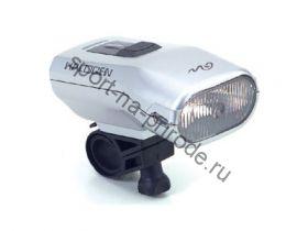 Передний фонарь RHL-01NC Halogen лампа, с крепежем, б/зарядного устройсва, цв.серебр.
