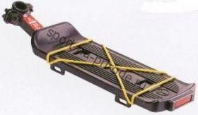 Багажник быстросъёмный  на подседельный штырь, стальная поддержка багажника, цвет чёрный, в индивидуальной упаковке