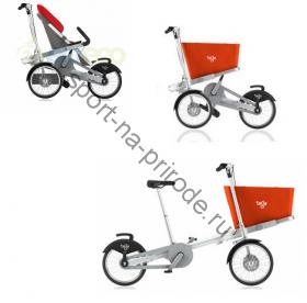 Велотрансформер Eltreco Taga (1) для одного ребенка с грузовой корзиной