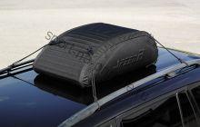 Бокс-сумка мягкая на крышу автомобиля - размер S (115 литров 90х60х30см) черная