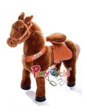 """Поницикл  """"Темно-коричневая лошадка"""" средний"""