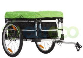 Грузовой велоприцеп большой с тентом и сумкой VIC-1305