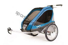 Коляска Thule Chariot Corsaire1/Корсар1 в компл. с велосцепкой, голубой