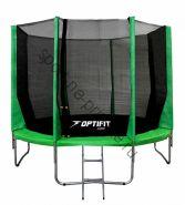 Батут OPTIFIT JUMP 14ft 4,27 м зеленый