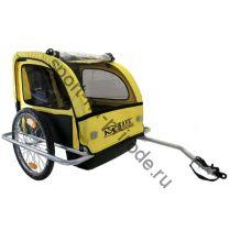 Велоприцеп M-Wave для перевозки двух детей или грузов.