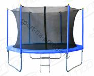Батут JUNHOP 10'. Комплект с защитной сетью и лестницей. Синий.