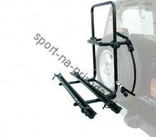Крепление велосипеда на запас. колесо PERUZZO 4x4 Brennero (2 вел.) с креплением за колеса (рельс)