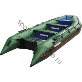 Лодка NISSAMARAN надувная, модель TORNADO 420, цвет зеленый (аллюм. пол) A/L