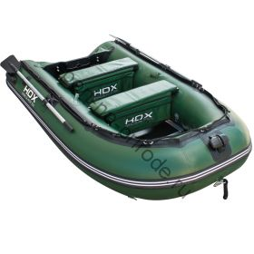 Лодка HDX надувная, модель CARBON 280 , цвет зелёный, (дерев. пол) P/L