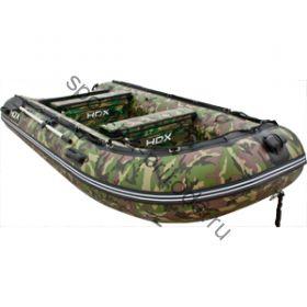 Лодка HDX надувная, модель OXYGEN 370 AL, цвет камуфляж зеленый