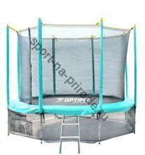 Батут OPTIFIT 10FT Like Green с сеткой и лестницей