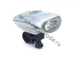 Передний фонарь WH-01NH Halogen лампа, индикатор зарядки, с крепежем